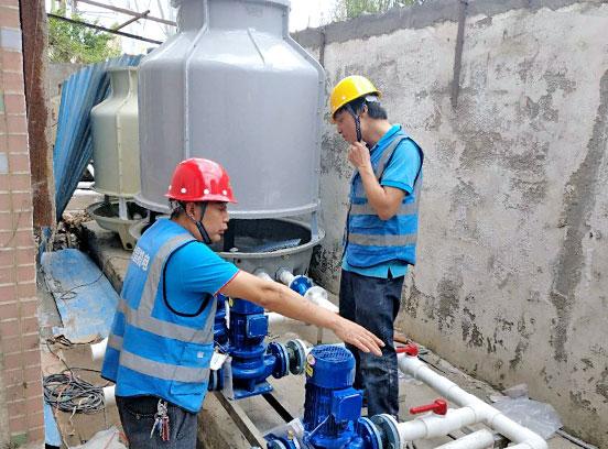 深圳某电子科技有限公司厂房车间水冷空调工程